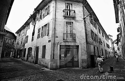 Street of Chambery, France