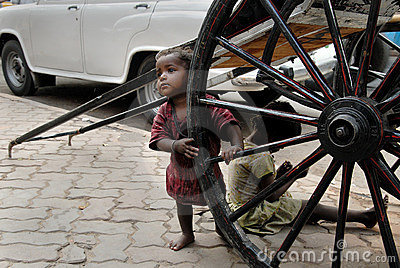 Street children in Calcutta Editorial Photo