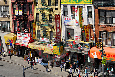 Street in Chinatown, New York Editorial Stock Image