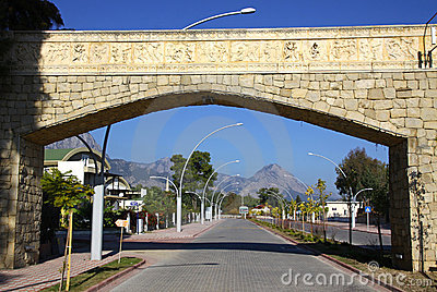 Street of City of Kemer, Turkey