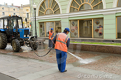 Street cleaner Editorial Image