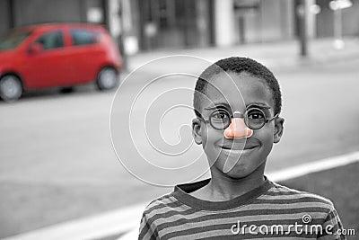 On the street clown