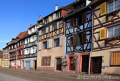 Street in Colmar Editorial Stock Photo