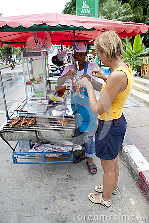 Street cooking Editorial Photo