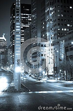 Street corner at night