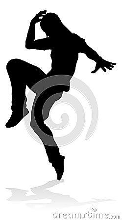 Free Street Dance Dancer Silhouette Royalty Free Stock Image - 135911056