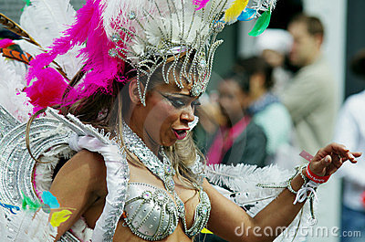 A street dancer at London Notting Hill Carnival Editorial Stock Photo