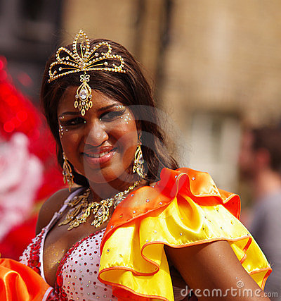 A street dancer at London Notting Hill Carnival Editorial Stock Image