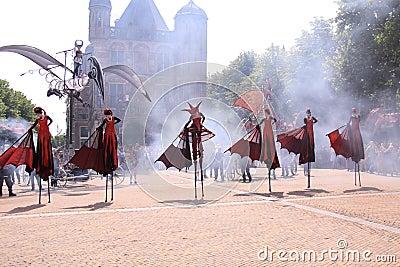 Street dancers dutch city deventer