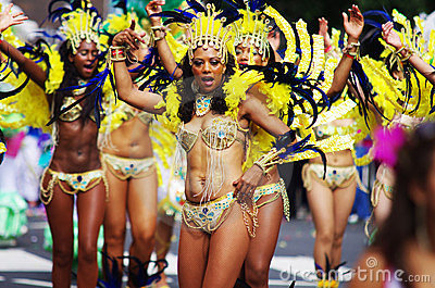 A street dancers at London Notting Hill Carnival Editorial Photo