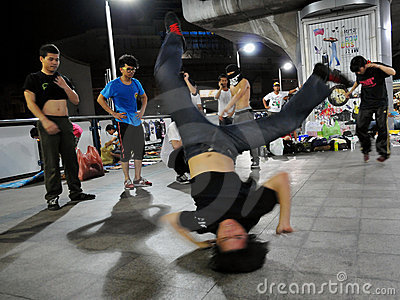 Street Dancing B-Boy Editorial Stock Image