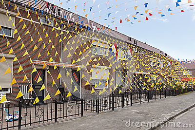 Street Decorations European Soccer Champions Editorial Stock Image