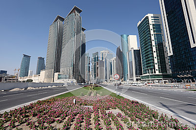 Street In Doha Downtown, Qatar Royalty Free Stock Image - Image: 28292556