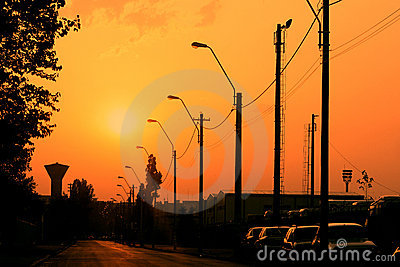 Street electric pillars