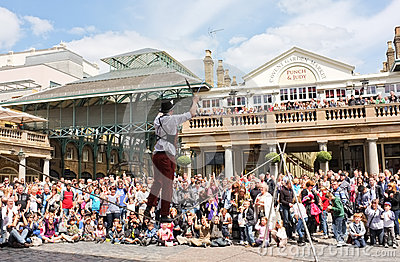 Street Entertainer Covent Garden London Editorial Stock Photo