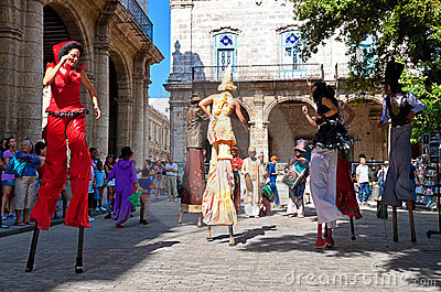 Street entertainers in Old Havana December 2 Editorial Image