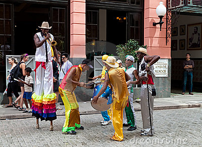 Street entertainers in Old Havana October 2 Editorial Photography