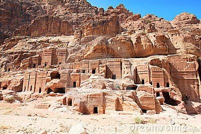 Street of Facades in Petra in Jordan. It was carve