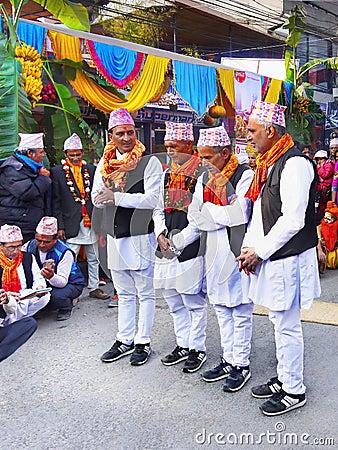 Free Street Festival, Asia Nepal Royalty Free Stock Image - 80124586