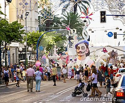 Street Festival Puppet Bonfire Sculpture