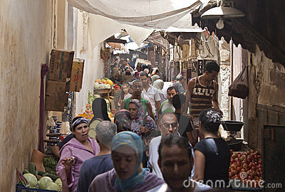 Street in Fez Editorial Stock Image