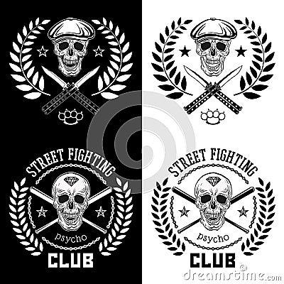 Free Street Fight Emblem Royalty Free Stock Photos - 53058248