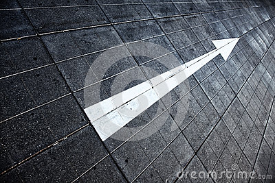 Street floor arrow direction