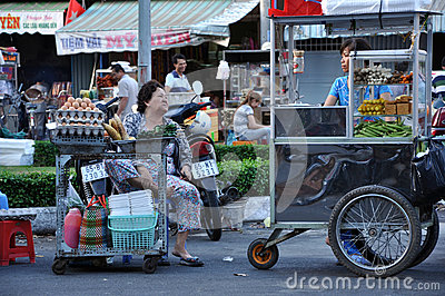 Street food in Asia. Mekong delta, Vietnam Editorial Photo