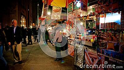 Street Food Carts in Manhattan Editorial Stock Image