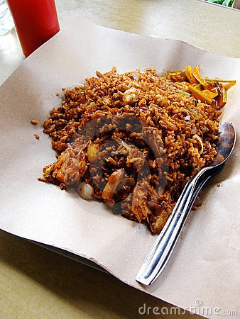 Street food Malay fried rice