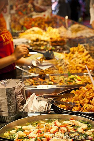 Street food: Thai kitchen spicy buffet