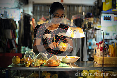 Street Food Vendor in Bangkok Editorial Image