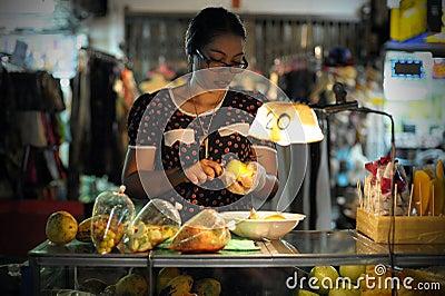 Street Food Vendor in Bangkok Editorial Image