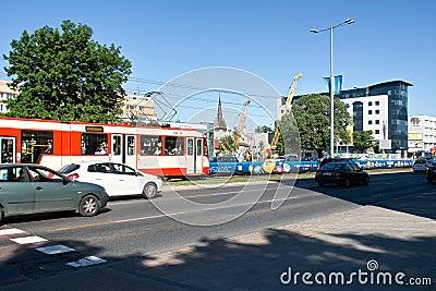 Street in Gdansk Editorial Photo