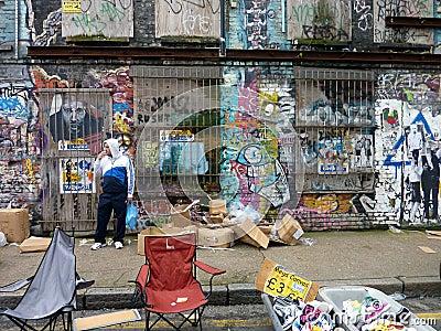Street graffiti art art Editorial Image