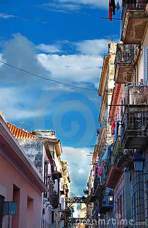 Street in Havana whit Colorful buildings