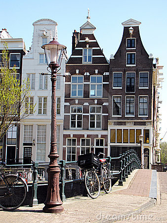 Street and House architecture in Amsterdam