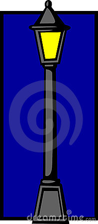 Street illumination light pole. Vector available