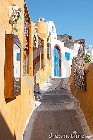 Free Street In Oia Santorini Greece Stock Photography - 500162