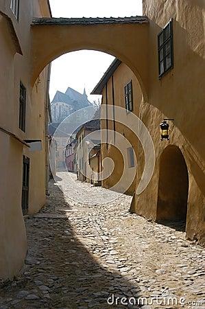Free Street In Sighisoara, Romania Royalty Free Stock Photo - 17103445