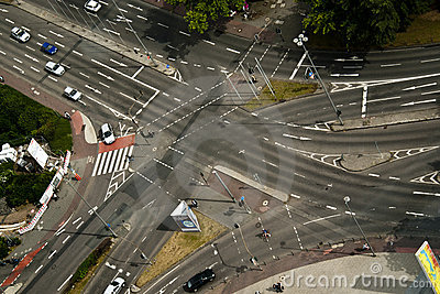 Street Intersection Editorial Image