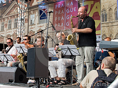 Street Jazz Concert Editorial Stock Photo