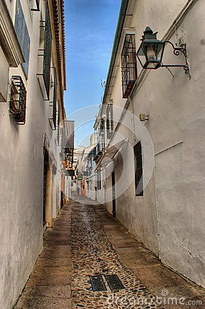 Street of jewish quarter in Cordoba, Spain
