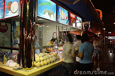 Street kiosk with coconuts Editorial Stock Photo