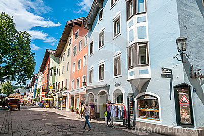 In The Street of Kitzbuhel Editorial Stock Image