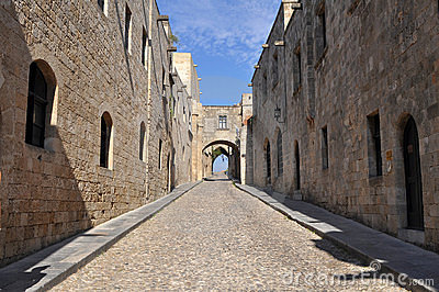 Street of the Knights,island Rhodes