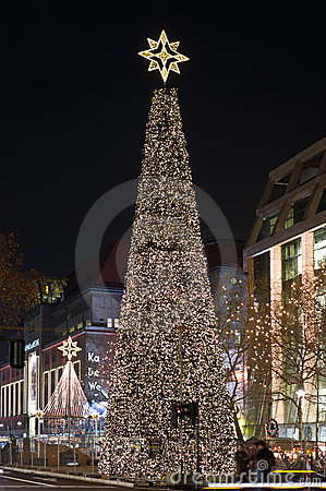 Street Kurfurstendam in Christmas lights Editorial Stock Photo
