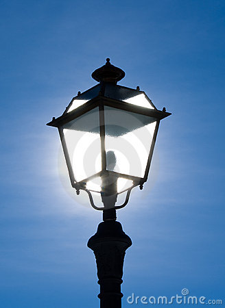 Street lamp backlit