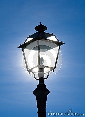 Street lamp backlit