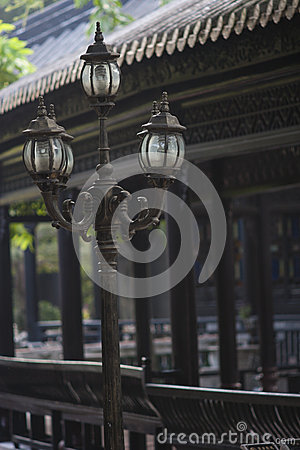 The Street lamp in classical Chinese garden